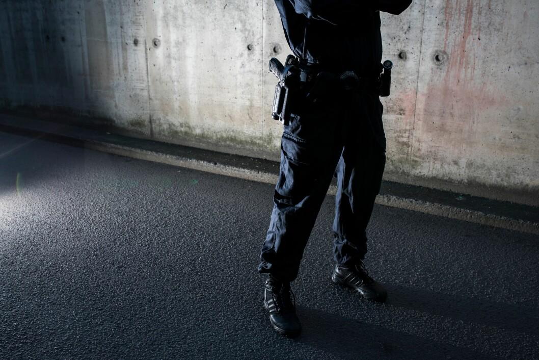 Politiet i Oslo er bevæpnet på patruljer i Oslo sentrum i sommer.