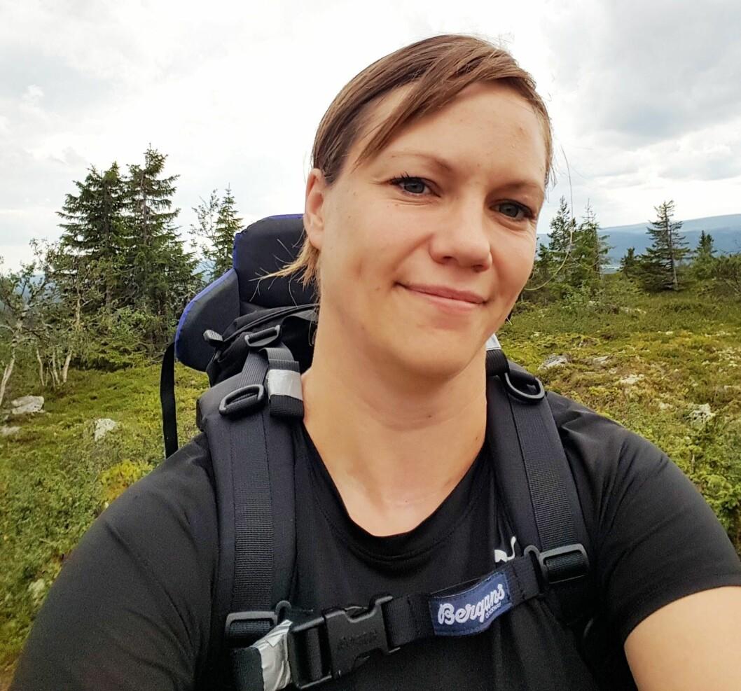 Trives i naturen: Silje Dølplads Johansson bruker blant annet sommeren til å være ute i naturen.