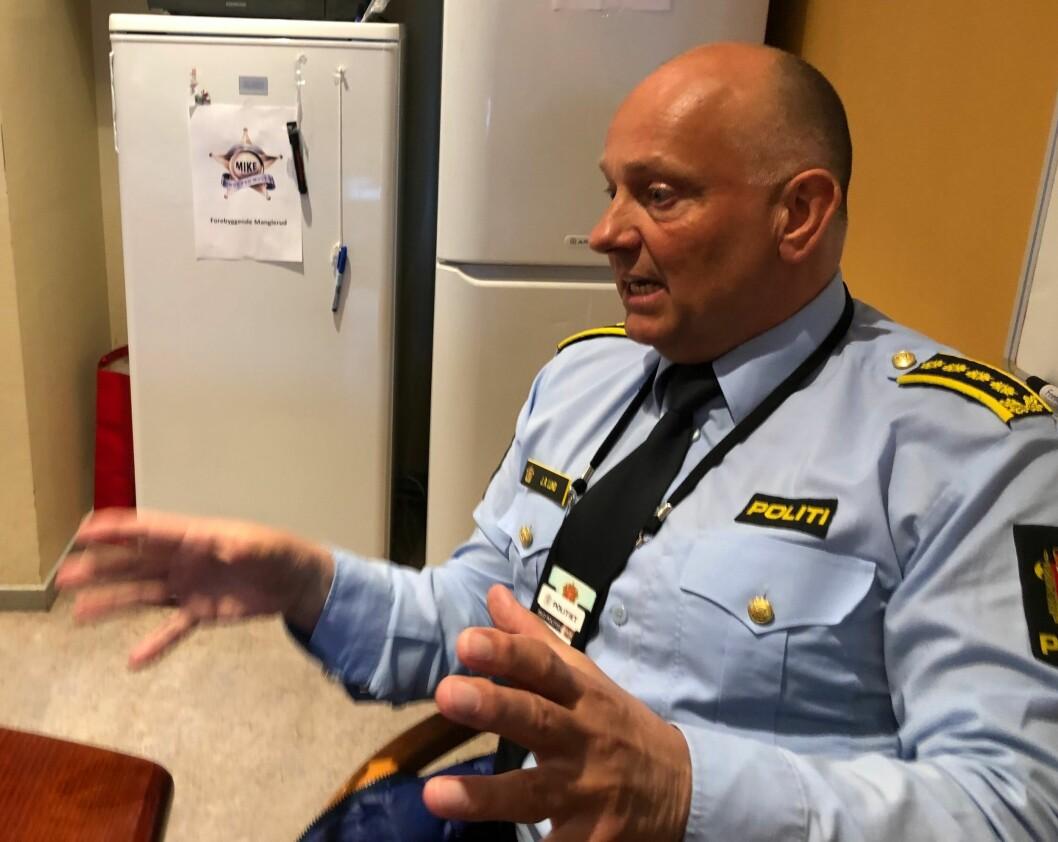 På jobb: Slik ser John Roger Lund ut når han er på jobb som sjef for Enhet Øst i Oslo politidistrikt.
