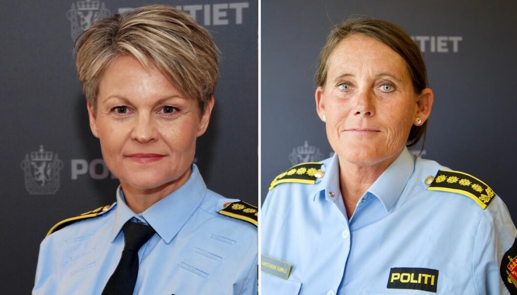 Lena Reif og Nina Karstensen Bjørlo i Sør-Øst politidistrikt, er ikke enige i framstillinga distriktet deres har fått i vår.