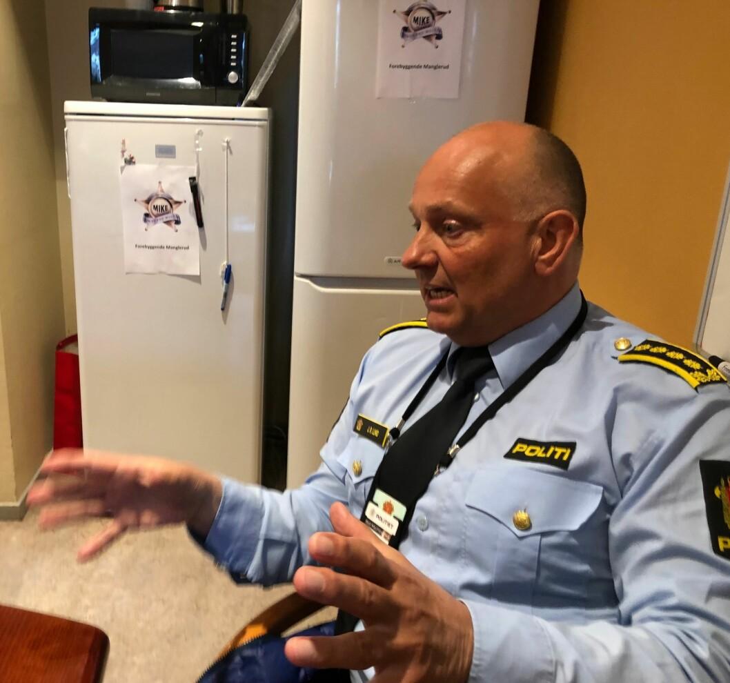 På jobb: Slik ser John Roger Lund ut når han er på jobb i Oslo politidistrikt.