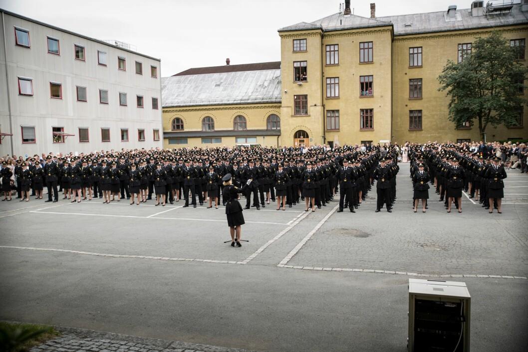 Politihøgskolen må ikke ligge innenfor Oslos bygrense, skriver artikkelforfatteren. Her fra uteksamineringen på PHS på Majorstua i 2016.