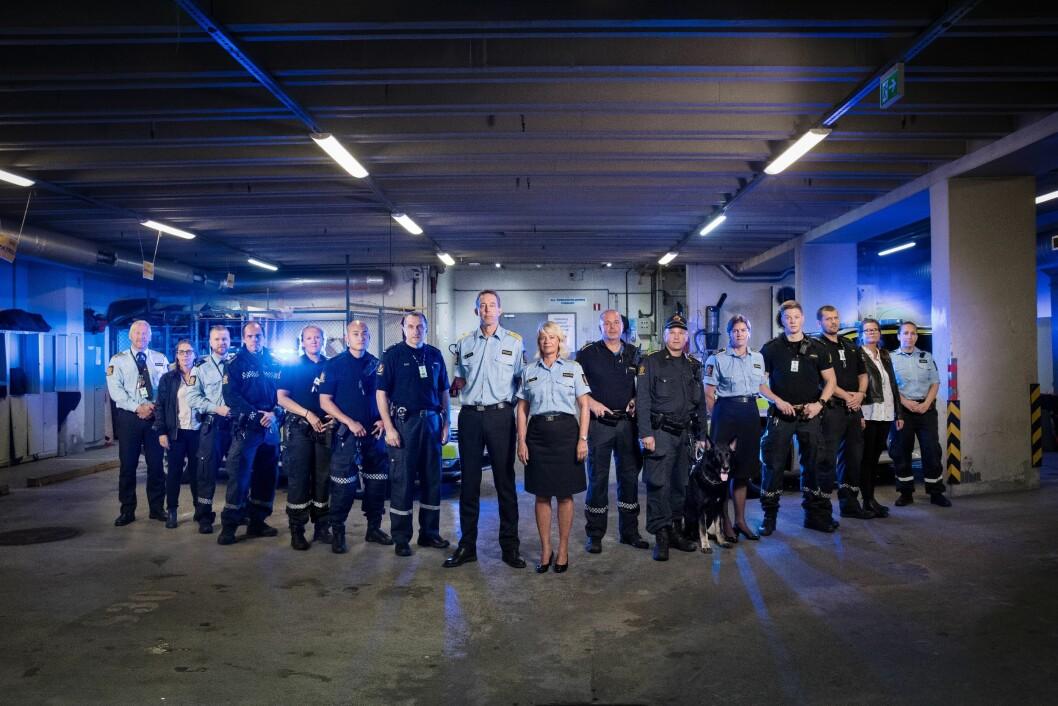 De ansatte i Vest politidistrikt er klare for skjermen.
