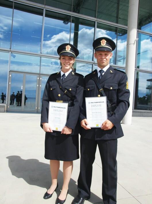 Ingrid Rekdal og Eiving Jensen med bevis på at de var sprekest i Stavern