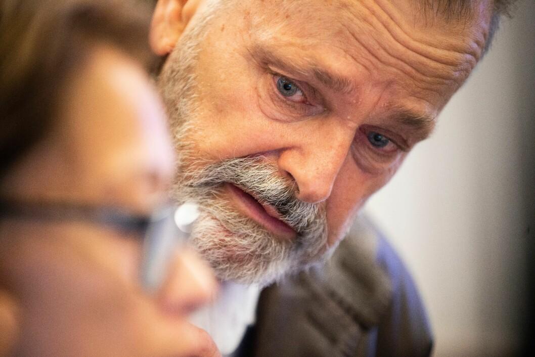 Eirik Jensen var på plass i retten i dag tidlig.