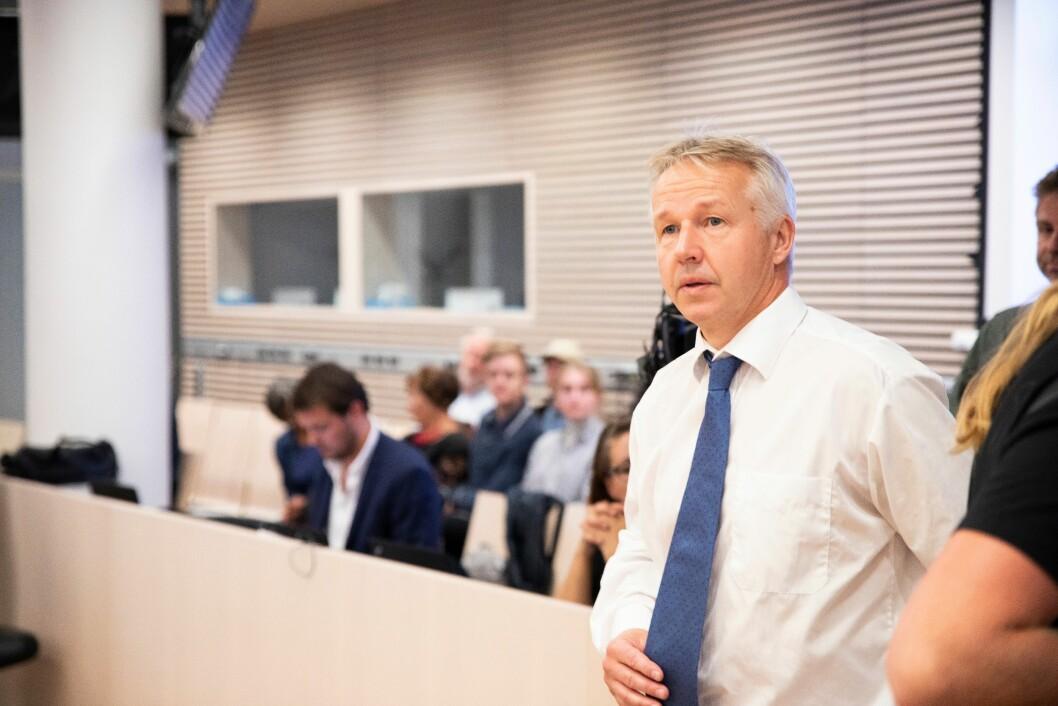 Jan-Egil Presthus, sjefen for Spesialenheten, prosederer selv saken i Borgarting lagmannsrett.