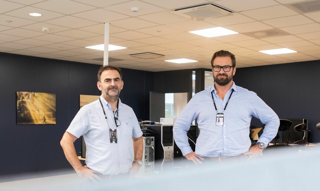 Kripos-sjef Ketil Haukaas (til venstre) har hentet Olav Skard Jørgensen til å lede oppbyggingen av politiets nasjonale cybersenter NC3.