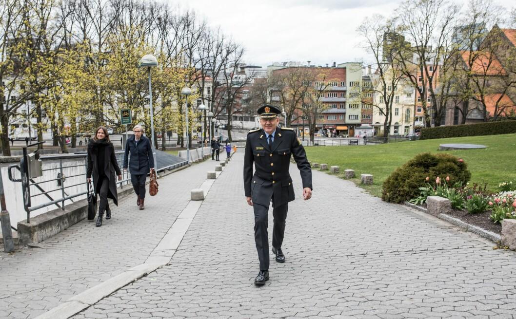 Politidirektør Odd Reidar Humlegård takker for seg. Nå starter jakten på etterfølgeren.