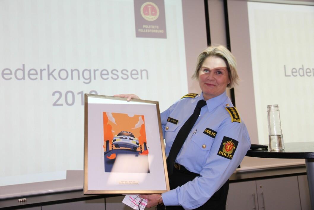 Grete Lien Metlid ble kåret til Årets Politileder i dag.