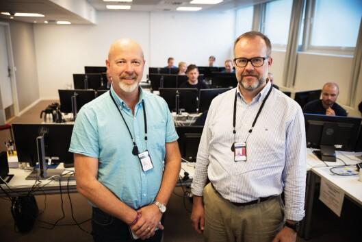 Dag Hjulstad og Knut Vidar Hoholm ser fram til å sette Tellus i drift.