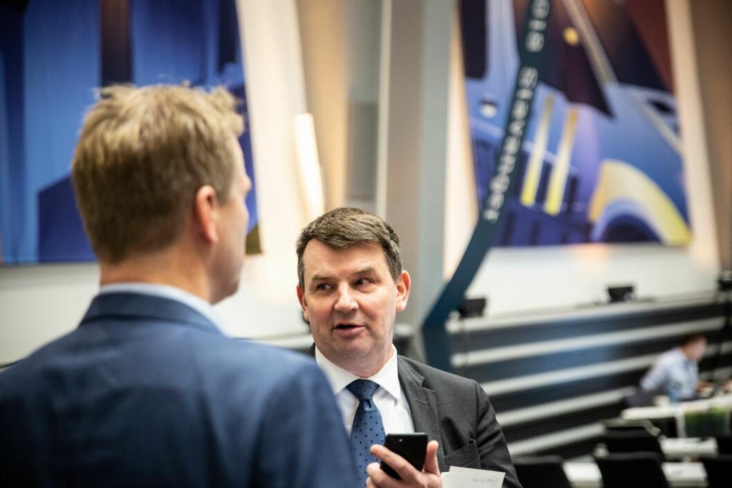 Justis- og beredskapsminister Tor Mikkel Wara (Frp) under Politiets Fellesforbunds landsmøte 2018.
