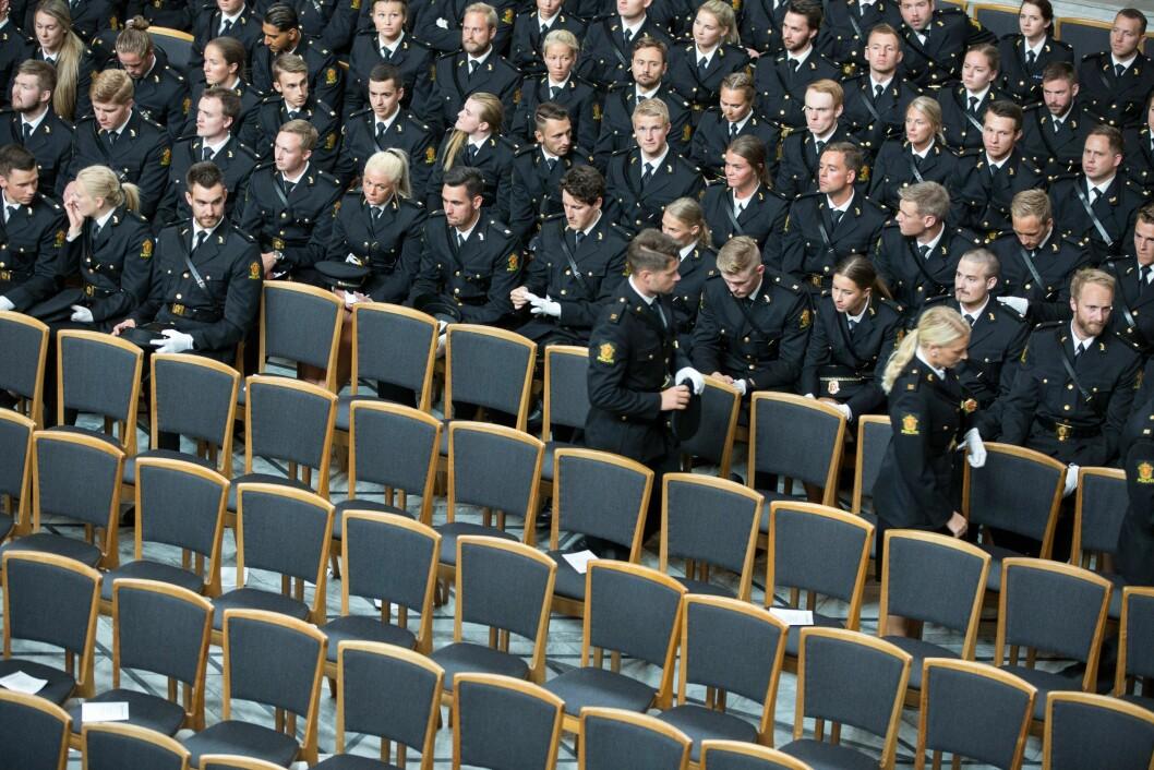 Avslutning for politistudentene i Oslo rådhus juni 2018.