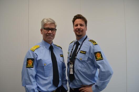 Fagdirektør i POD, Atle Roll-Matthiesen og politiinspektør Thomas Østensjø Hansen.