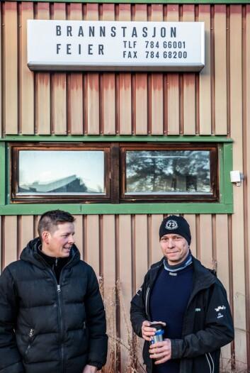 Nils Asllat Kildedam og Jan Inge Paulsen har 14 og 3,85 prosent stilling som brannsjef og brannmann i Karasjok.