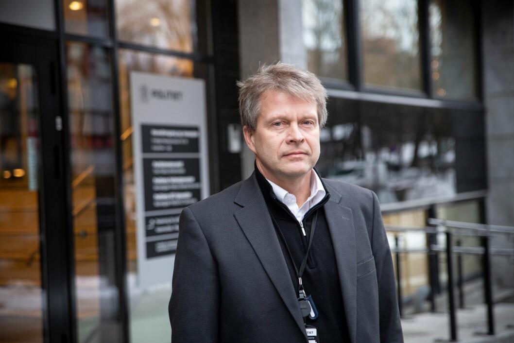 Avdelingsdirektør for Eiendom i Politiets Fellestjenester, Erik Trehjørningen.