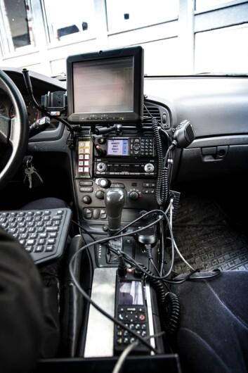 Politiet har mange gode løsninger i politibilene, men det hjelper ikke når man jobber med avstand fra bilen.