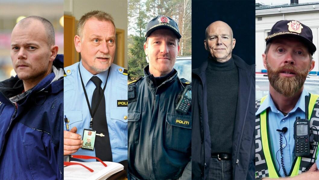 Espen Molland, Hans Roar Rasmussen, Morten Helland, Per Fronth og Wictor Furøy er de fem kandidatene til Politiforums Ærespris 2018.