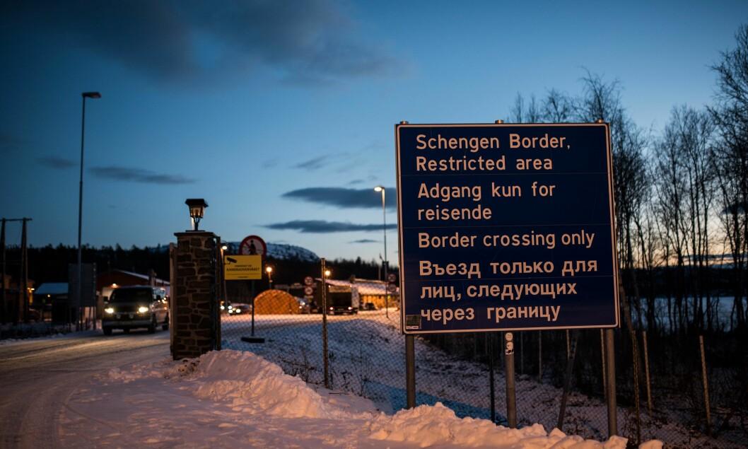 GPS: E-tjenesten har bekreftet at de har registrert GPS-utfall i Finnmark i området nær grensa mot Russland. Bildet viser grenseovergangen på Storskog.