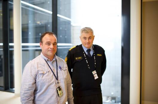 HELHETLIGE: Torkjeld Jevne og John Ståle Stamnes i Politidirektoratet, har stor tro på at lokalt HMS-apparat og kollegastøtteordningen er egnet til å ivareta veteranene.