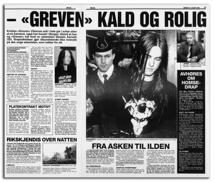 GREVENS TID: Varg Vikernes, bedre kjent som «Greven», var sannsynligvis den eneste personen Stian Elle ikke lyktes med å få til å prate. I lange avhør med Elle, åpnet knapt Vikernes munnen i det hele tatt.