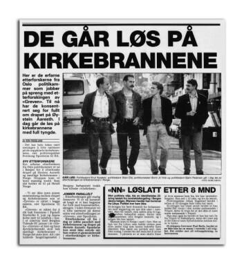 VILL VEST: Flere kirkebranner og det bestialske drapet på Øystein Aarseth, førte til at en delegasjon fra kirkebranngruppa i Oslo politidistrikt fløy til Bergen i august 1993. Stian Elle var en av dem.