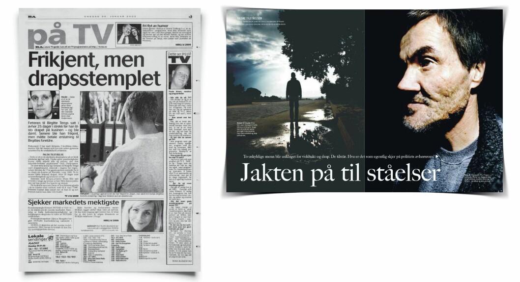 PÅMINNELSENE: Stian Elle kom aldri unna Birgitte Tengs-saken. Med jevne mellomrom ble han påminnet om hva han hadde vært en del av - som i da fetteren sto fram i dokumentaren «Tilståelsen» på TV2 i 2002, og når Dagbladet Magasinet kjørte en åtte sider lang reportasje om manipulative avhør i 2005. Der med intervjuer av både fetteren og Asbjørn Rachlew.