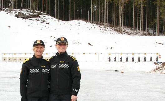 NYTT ANLEGG: Nina Skarpenes, rektor ved Politihøgskolen, og Ingrid Mæhre, stedlig leder for operativ seksjon ved Politihøgskolen i Kongsvinger.