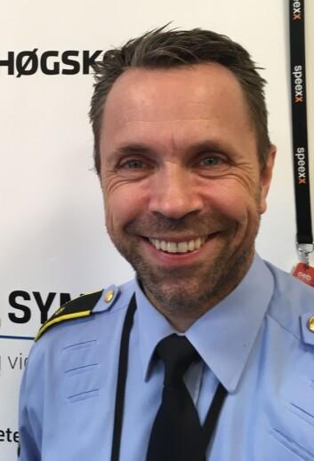 Politioverbetjent Rune Søfting ved Politihøgskolen.