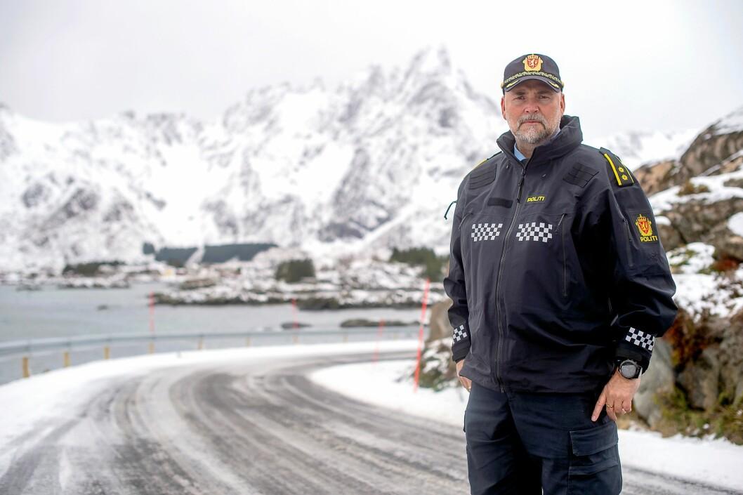 FIKK SKADE: Politioverbetjent Bjørn Rist ved Vest-Lofoten lensmannskontor fikk nakkeskade da han var markør under trening i arbeidstiden. Men selv om det skjedde på jobb, mener Trygderetten at han ikke oppfyller kravene til yrkesskadeerstatning.