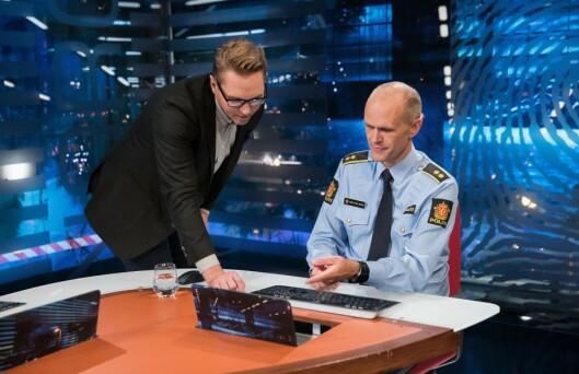 TIPS: Politiet tar imot tips fra publikum gjennom sendingen.
