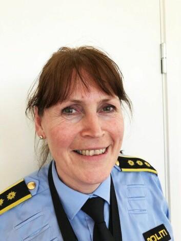 Grethe Løland, politistasjonssjef ved Gardermoen politistasjon.