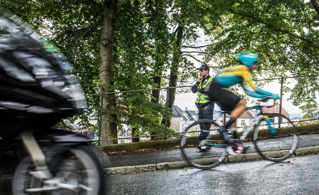 Rundt 900 politifolk fra hele landet ble beordret til Sykkel-VM.
