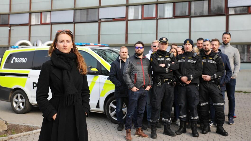 FIRE AV TI HELGER: Kristin Aga, leder i Oslo politiforening, og en rekke operative politifolk i Oslo reagerer på den nye turnusen hvor de må jobbe fire av ti helger.