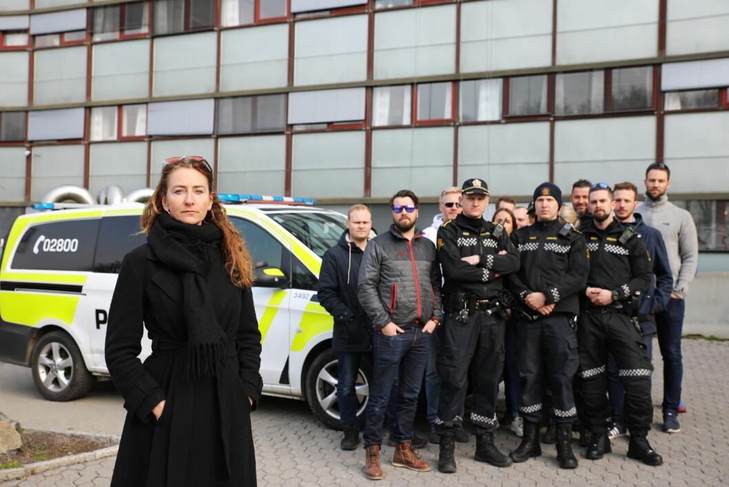 BLE INNFØRT: Kristin Aga, leder i Oslo politiforening, og en rekke operative politifolk i Oslo reagerer på den nye turnusen hvor de må jobbe fire av ti helger.