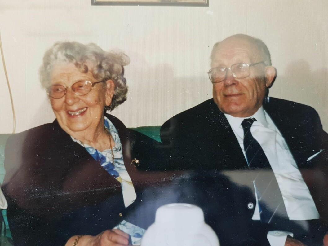 STORSNOKJI: Olav Nordstoga, som var lensmann i Trysil, og kona Anna Louise.