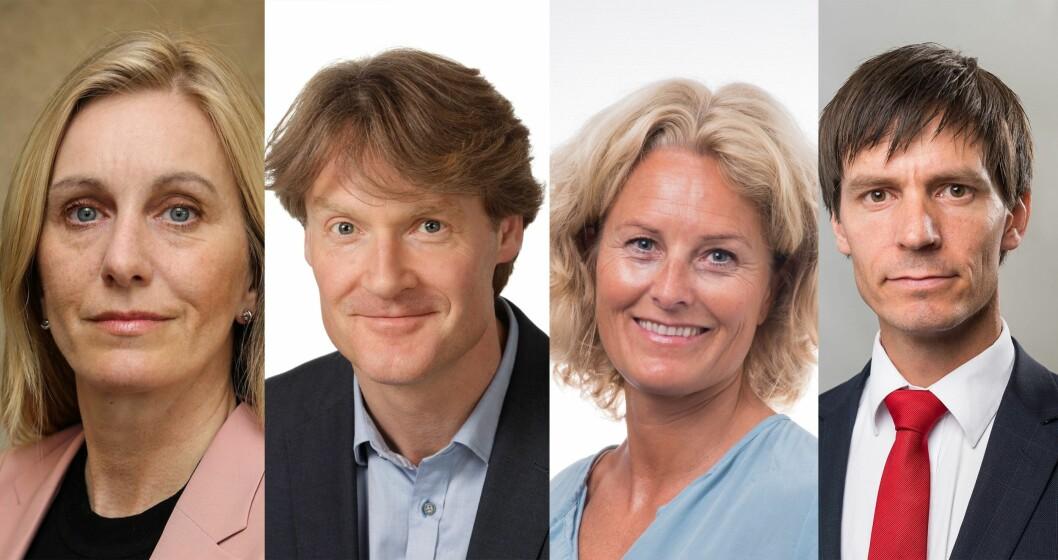 Andrea Kilen, Robert Rønning, Karen Christensen og Jostein Røraas har alle søkt på stillingen som kommunikasjonsdirektør i Politidirektoratet.