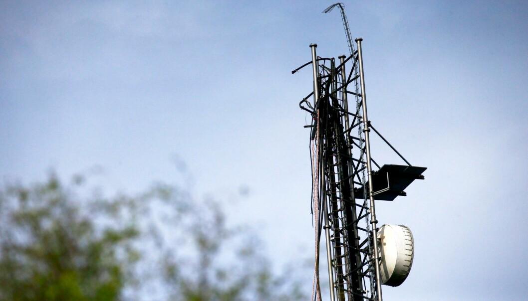 AMPUTERT: Slik så toppen av masten av etter at den brakk.