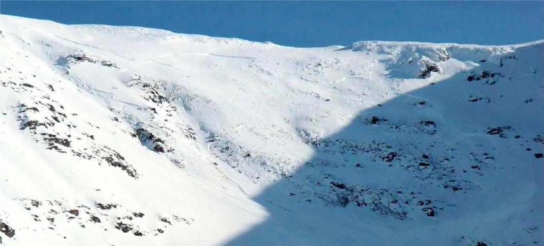 Fjellet Sorbmegaisa i Indre Troms, hvor et snøskred tok livet av fem personer i 2012.