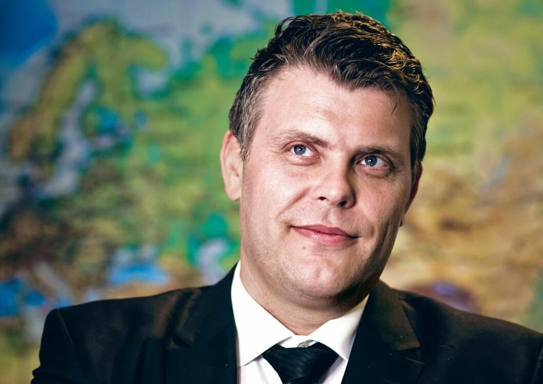 LØFTER BLIKKET: Justisminister Jøran Kallmyr (Frp) sier kriminalitetsbildet har endret seg markant de siste årene. – Nå er det helt andre plattformer og andre typer kriminalitet som gjelder, sier han.