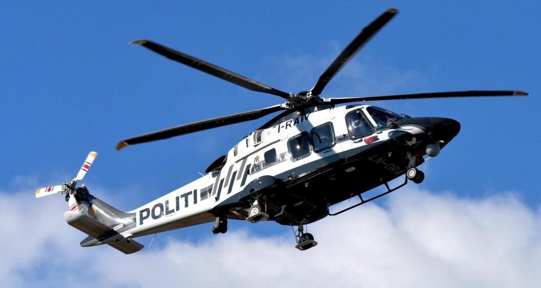 PÅ VEI: Dette er et av helikoptrene som nå er på vei til Norge.