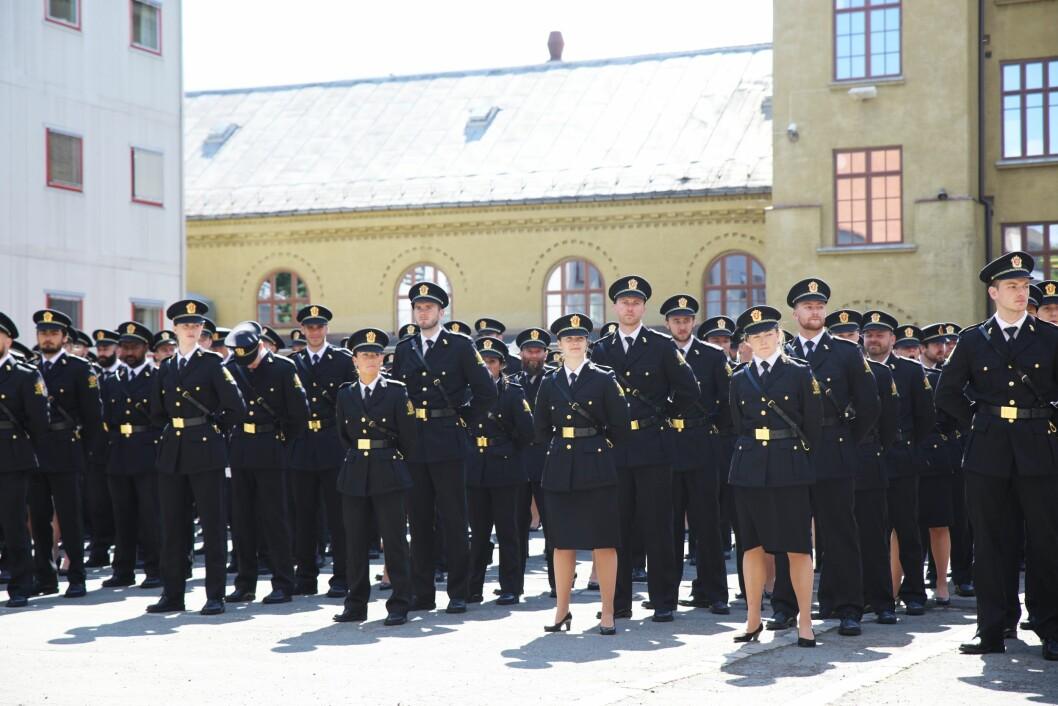 MANGE GODT KVALIFISERTE SØKERE: 578 søkere har fått tilbud om studieplass ved Politihøgskolen. Her fra årets PHS-avslutning i Oslo.