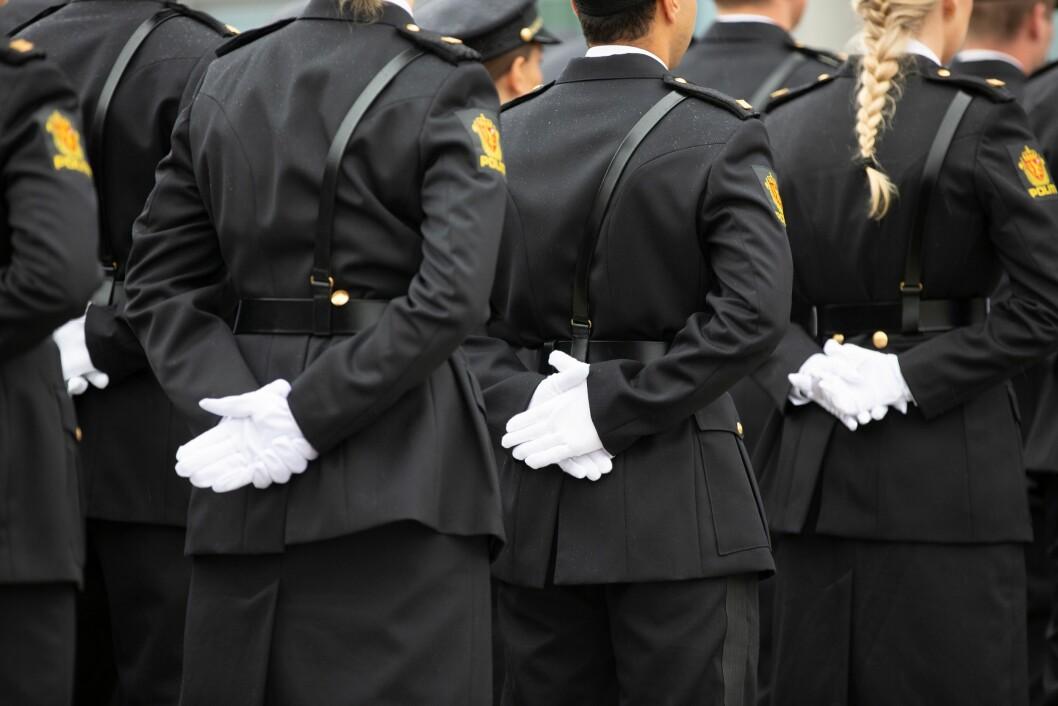 Nyutdannede politifolk under PHS-avslutningen i Stavern i juni 2019.