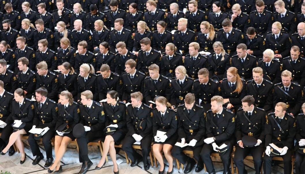 Avslutning for tredjeårsstudentene ved Politihøgskolen i Oslo i 2019.