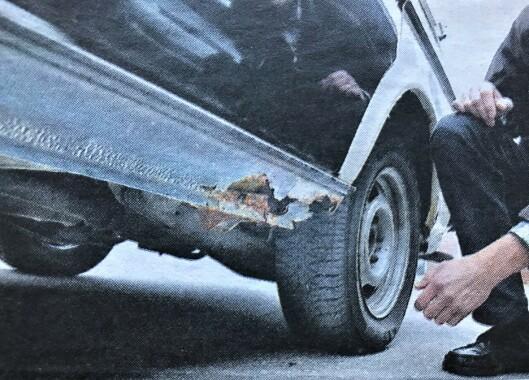 RUSTSKADER: Bilen bar preg av lite stell og omsorg.