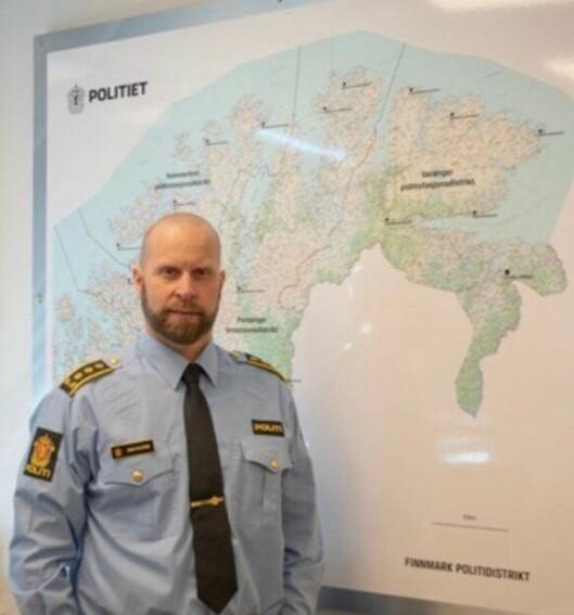 Stabssjef Tarjei Sirma-Tellefsen i Finnmark politidistrikt.