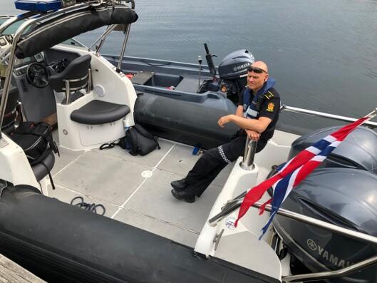 TRE POLITIBÅTER I AGDER: Her er politibåten som er stasjonert i Kristiansand.