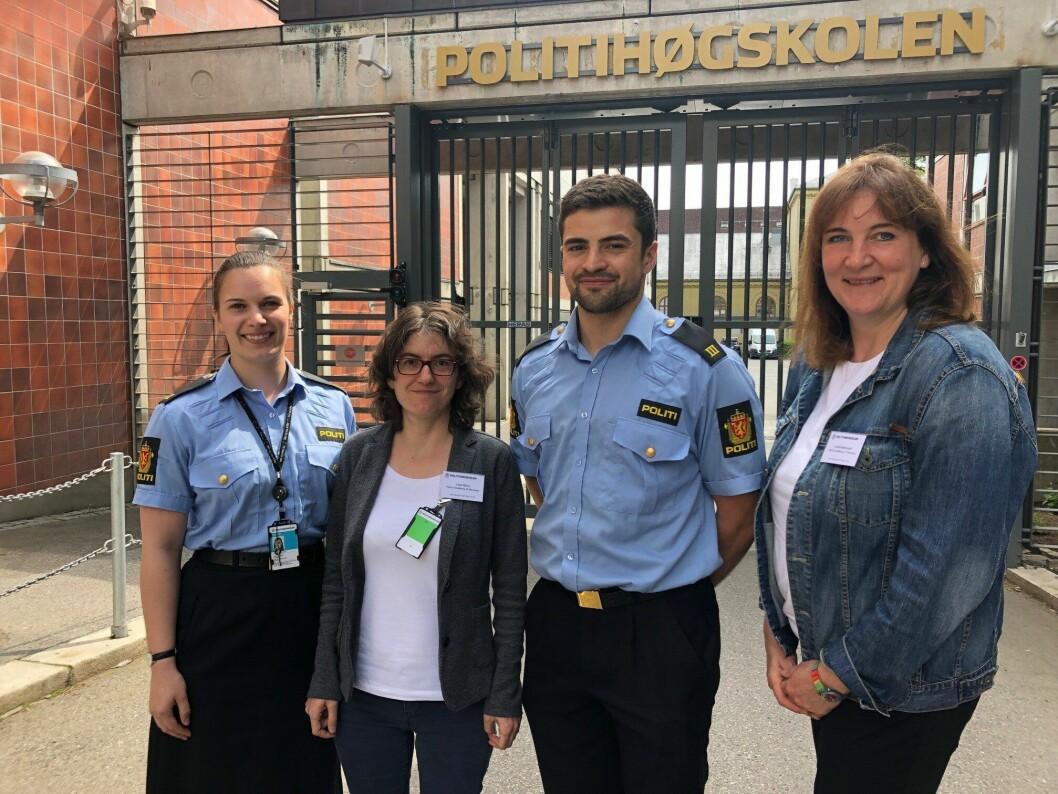 Andrea Marquardt og Folke Müller fra det internasjonale kontoret ved politiutdanningen i Niedersachsen har denne sommeren mottatt to uteksaminerte studenter fra Politihøgskolen på jobbutplassering.