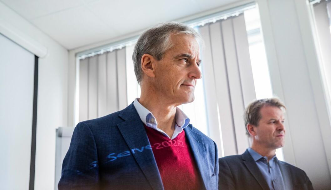 OMDISKUTERT REFORM: Jonas Gahr Støre, leder av Arbeiderpartiet, sier de ikke lenger kan støtte politireformen. Statsminister Erna Solberg sier hun ikke forstår hva Ap mener når de trekker støtten.