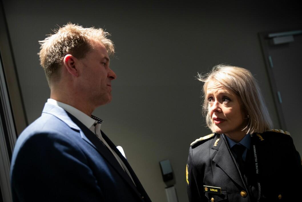 Politidirektør Benedicte Bjørnland skal onsdag ettermiddag diskutere politireformen sammen med blant andre PF-leder Sigve Bolstad.