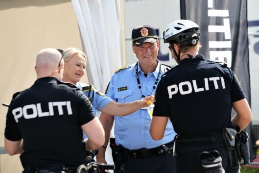 RUTINERT: Etter 29 år som politi på Norway Cup, har politioverbetjent Morten Østraat full kontroll på Ekebergsletta.